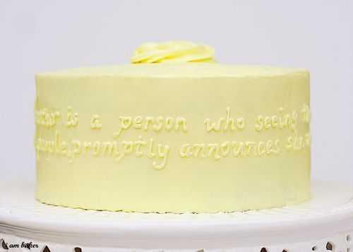 vanilla lemon quote cake mothers day i am baker