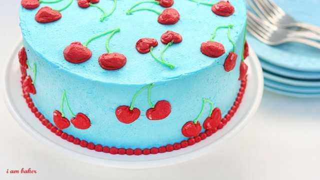 Terrific Cherry Cake I Am Baker Birthday Cards Printable Giouspongecafe Filternl